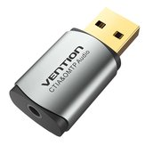 Vention CDNH0 USB 2.0 2.1 Channel Audio External Sound Card 3.5mm Headphone Adapter for Laptop PC