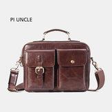 Men Genuine Leather Vintage  Crossbody Bag Messenger Bag