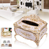 Home Wohnzimmer Tissue Box Elegant Gold Cover Chic Serviette Fallhalter Hotel Home Decor Organizer