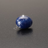 9 x 11mm Natural Blue Star Sapphire Ova 6 Rays Loose Gemstone Decorations