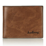 Baellerry Men Leather Wallet Card Holder Moeda Bolsa de bolso