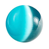 40mm Blue Cat's-eye Opal Natural Quartz Crystal Hand Healing Stone Ball Sphere Decor