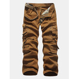 Katoenen multi-pocket cargo broek