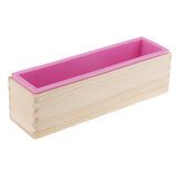 New Wood Loaf Soap Mould with Silicone Mold Cake Making Wooden Box Soap