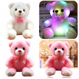 Girls Baby Cute Soft Stuffed Plush Teddy Bear Toy with LED Light Up for Kids Xmas Gift
