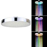 360 ° regolabile 8 Pollici LED Rotonda cromata pioggia soffione doccia soffione a pioggia 7 colori