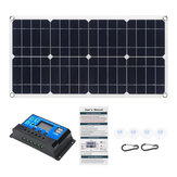 80W 18V Monocristal EVA + PET Panneau solaire Double chargeur 12V / 5V DC USB avec kit de contrôleur 10A12V / 24V PWM pour voiture RV Boat