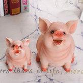 Piggy Bank Resin Craft Coin Bank Soporte para ahorrar dinero Caja Regalos para niños Decoraciones