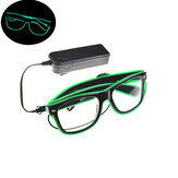 Светодиодные проблесковые очки EL Провод Очки Glow Party Очки Nightculb Festival