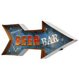 Metallpfeil LED Lichtschild Poster Neon Bar Club Game Pub Lampe Wanddekoration