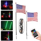 12V 3FT / 4FT bluetooth LED Flagpole Light 6000 colori 200 modalità APP Control per UTV ATV Moto Accessori