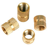 Suleve M2BN1 150Pcs M2 Thread Knurled Nut Brass Threaded Insert Embedment Nuts Assortment Kit