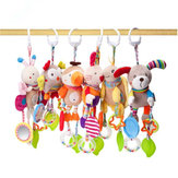 Baby Cute Cotton Rattles Infant Animal Hand Bell Kids Plush Toys Boy Girls