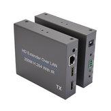 NK-E200IR HD Extensor sobre LAN 200M H.264 Con transmisión de señal IR sobre convertidor de larga distancia