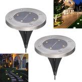 2 Adet 4 LED Solar Güç Altında Gömülü Işık Yeraltı Lamba Outdoor Yolu Bahçe