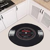 60-120cm Retro Music CD Record Impreso Soft Tapete redondo Área de la habitación Alfombra Alfombra