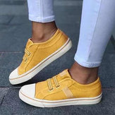 Women Sneakers Canvas Elastic Band Casual Flats