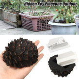 Pinecone Hidden Hide Key Caja Holder Secret Stash Safe al aire libre Garden Safe Caja