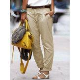 S-5XL Donna Casual tinta unita Long Harem Pantaloni