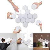 LED Quantum Hexagonal Wall Lámpara Modular Touch Sensor Luminaria Sala de estar Decorativa Luz inteligente