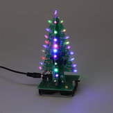Assembled Christmas Tree RGB LED Color Light Electronic 3D Decoration Tree Children Gift Ordinary Version