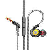 Bakeey T05 Ağır Bas Oyun Spor Asılı Kulak 3.5mm Kablolu Kontrol Telefon Kulaklığı Kulaklık Mic ile