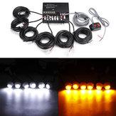 Las bombillas del coche 6LED se esconden lejos Advertencia de peligro de emergencia Flash Kit de luz estroboscópica 12V 120W