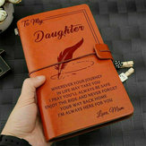 A mi hija Where Ever Love Love Mom Grabado en cuero Diario de diario Cuaderno Diario Mensaje personalizado Citas Regalo Aniversario Cumpleaños