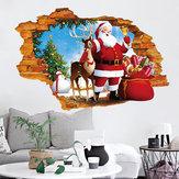 Miico XH7247 Adhesivo de Navidad Adhesivo de decoración del hogar Adhesivo de ventana y pared Tienda Adhesivos decorativos