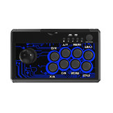DOBE TP4-1886 7 في 1 Retro Arcade Fighting Analog Stick Game Controller جويستيك Rocker للمفتاح PS4 PS3 لـ XBox One/360 الكمبيوتر أندرويد Games
