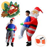 Scary Halloween Christmas Man Inflatable Costume Blow Up Suits Party Dress Decorations