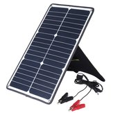 HAWEEL 20W Waterproof Solar Charging Panel Solar Panel with Tiger Clip Support Fast Charging Connected in Series