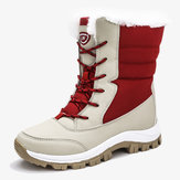 Winter Warm Plush Lining Casual Mid-calf Snow Boots