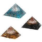 Cristal natural da pedra preciosa Yoga da meditação de pedra preciosa dos cristais da pirâmide pedra 70-75mm