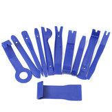 11PCS Blue-Werkzeugsatz zum Entfernen der Innenverkleidung für die Türverkleidung des Armaturenbretts des Auto-Audiosystems