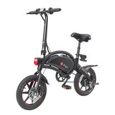 [EU Direct] DYU D3+ 10Ah 240W 36V Folding Moped Electric Bike 14in 25km/h Top Speed 70km Mileage Range Intelligent Double Brake System Max Load 120kg