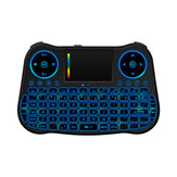 MT08 2.4G Air Mouse 6 Gyro Fly Air Mouse Rainbow Backlight Remote Control Mini Keyboard untuk Android Kotak TV Pintar