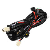 LED HID Wiring Loom Harness 2 Ways Kit with H4 HB3 Adapter ON OFF Switch 12V/24V for Car Spot Light
