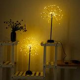 100 LED Dandelions Lamba USB Havai Fişek Gece Işığı Bahçe Düğün Parti Noel