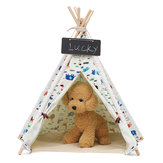 Pet Dog House Washable Tent Puppy Cat Indoor Outdoor Home Play Teepee  Pet Bed