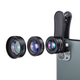 KUULAA 3in1 4K HD Wide Angle Lens Macro Fisheye Lenses Cell Phone Camera Lens Kit for iPhone 11 Pro Max Huawei P20 Pro Samsung