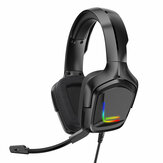ONIKUMA K20 RGB luz LED Gaming Headphone Estéreo Reducción de ruido con cable Auricular Con micrófono para PS4 Xbox One