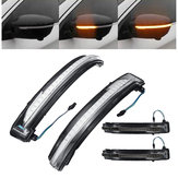 LED Side Wing Mirror Turn Indicator Lights Black/Clear Lens for Nissan Qashqai X-trail Juke Navara Pathfinder