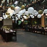 22 SZTUK 6 '' - 14 '' Okrągła papierowa latarnia Lampowa pokrywa Wesele Wiszące dekoracje dekoracyjne
