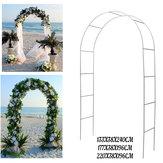 Arco de ferro Maneira Montar Porta Festa de Casamento Nupcial Prom Garden Floral Casamento Decorações Florais