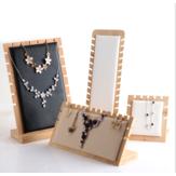 Ferramenta de jóias de rack de armazenamento de jóias Pingente em madeira maciça