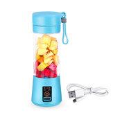 380ml Portable Juicer USB Rechargeable Fruit Blender Juicer Shaker Bottle