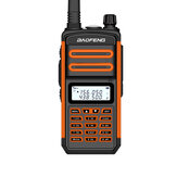 BAOFENG BF-S5plus 5W 1800mAh UV Dual Three Banda Two-way Handheld Radio Walkie Talkie 128 canais Sea Land LED Lanterna Outdoor Intercom Civilian Interphone