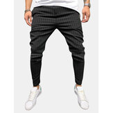 Mens Fashion Stripe Lightweight Casual Pants