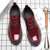Patent Leather Wide Business Casual Office Formal Oxfords